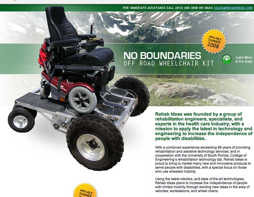 un kit tout terrain pour fauteuil 233 lectrique