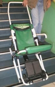 chaise d vacuation escape fabriqu e par escape mobility company import e par euromove. Black Bedroom Furniture Sets. Home Design Ideas