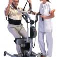 Le principal but de cet appareil est de faciliter  les transferts courts. Il peut également être utilisé comme lève-personne traditionnel et comme aide technique pour l'entraînement à la station debout. Essai réalisé le 05/05/2009