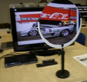 Photo du visioplus en utilisation devant un écran