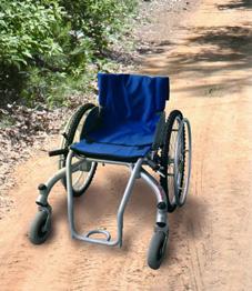 Photo du fauteuil lozere en extérieur