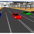 Voilà un autre petit jeu fonctionnant sur 2 touches découvert récemment. Il s'agit d'une simulation de jeu de voitures sur circuit 24.