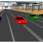 Photo du jeu en vu replay, les voitures de face