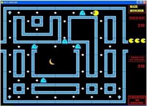 Capture d'écran du jeu Maze Muncher en utilisation