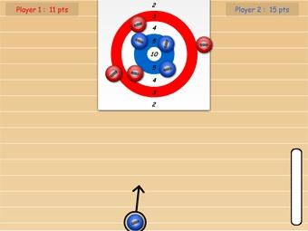 Un jeu de kurling sympa et original proposé par Help Kids Learn.
