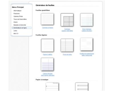 Voici une idée originale, un générateur de page ! Voyons l'utilité de celui-ci.