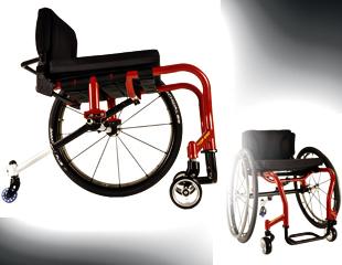 """Le fabricant de fauteuil roulant Invacare a récemment ajouté un fauteuil roulant spécialisés en danse à leur gamme existante de fauteuils roulants """"Top End"""", le Top End Twirl."""