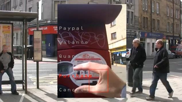 Blinput est un concept d'un système d'information contextuel destiné aux personnes non voyantes.
