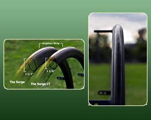 Le Surge est une main courante ergonomique pour fauteuil roulant.