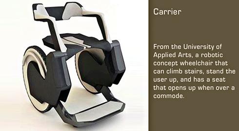 Jetez un coup d'oeil à quoi les fauteuils roulants du futur pourrait ressembler.