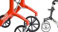 Déambulateur en aluminium disposant de 4 roues pour une utilisation en intérieur et en extérieur.