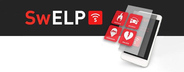 L'application permet d'alerter les secours facilement et rapidement …
